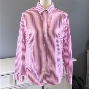Banana Republic Women's Dress Striped Shirt  12